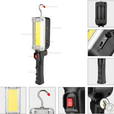 1x COB LED Work Light Magnetic Camping Lamp Flashlight W/ Hook Rechargeable