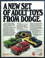 1978 Dodge Power Wagon Ramcharger Street Van Pickup photo Adult Toys print ad