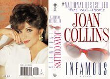 JOAN COLLINS - Orig Printers Card Promotinal Proof  INFAMOUS Book Jacket F#34