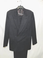 Canali Proposta Men's Double Breasted 100%  Pure Wool Suit 48R Made In Italy EUC