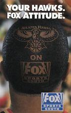 1998-99 ATLANTA HAWKS BASKETBALL POCKET SCHEDULE - FOX SPORTS