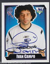 Merlin Football Sticker - 2003 Premier League No 125 - Bolton - Ivan Campo