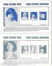 2 Your Future Wife, Children 1935 Esco Humor Exhibit Supply Co gag Arcade Card f