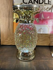 Bath & Body Works Pineapple Light Up Water Globe Pedestal 3 Wick Candle Holder