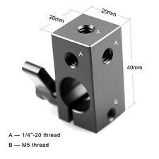 "1/4""-20 Thread 15mm Rod Clamp RailBlock fr 15mm Support Rail System"
