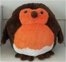 Cozy Time Giant Robin Handwarmer. Big Soft Plush Cuddly Toy.