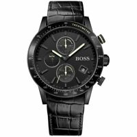 Hugo Boss HB 1513389 Rafale Chronograph Black Tone Leather Strap Men's Watch