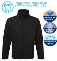 FORT BLACK Selkirk Softshell Waterproof Windproof Thermal Lined JACKET S to 3XL