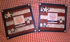 Destination Holiday Americana Square Freestanding Picture Frames Red White Blue