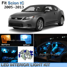 9pcs Bright Ice Blue Interior LED Lights Package Kit For 2005-2016 Scion tC