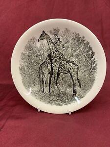 Wedgwood 'Giraffe' Black & White Decorative Plate, WWF (457)