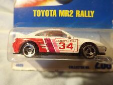 1991 Vintage Hot Wheels_TOYOTA MR2 RALLY_WHITE_#233_Carded>More Rare 3 Spoke