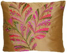 Embroidered Cushion Cover Designers Guild Delacroix Silk Fabric Floral Rectangle
