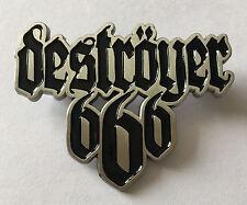 DESTROYER 666-LOGO METAL PIN BADGE