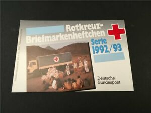 GERMANY BOOKLET 1992 RED CROSS CROIX ROUGE ROTES KREUZ CAR TRUCK h4953