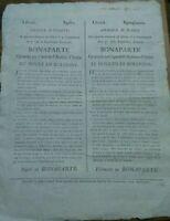1797 QUARTIER GENERALE DI MILANO:PROCLAMA NAPOLEONE CONTRO RIMINI FAENZA RAVENNA