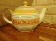 RINGTONS CERAMIC BISCUIT BARREL JAR - LARGE TEA POT STYLE WITH LID