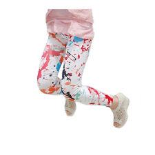 White Paint Splatter Look Graffiti Leggings PUNK Club SCENE Emo