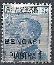1911 BENGASI USATO 1 PI SU 25 CENT - RR11960
