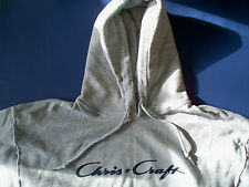 Chris Craft Screen Printed Athletic Heather Hooded Sweatshirt Heavy Weight
