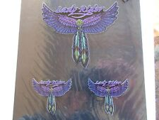Car decal sticker - Lady rider Wings Feather dreamcatcher Top Quality 3 x decals
