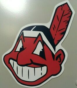 Cleveland Indians magnet Chief Wahoo Magnet car magnet MLB Baseball 6 inch tall