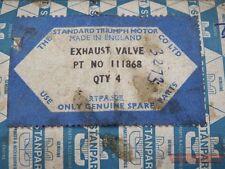 Exnaust Valve Set, STANPART, NOS, narrow collet, Triumph Herald 948 Coupe, 59-62