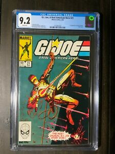 GI Joe #21 CGC 9.2 NM- White pages 1st app of Storm Shadow Silent issue!