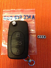 AUDI TT A6 CENTRAL LOCK REMOTE KEY FOB 4D0 837 231 A 4D0837231A BLADE CUT FREE