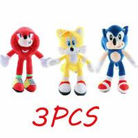 Sonic The Hedgehog Plush Knuckles Silver Tails Stuffed Teddy Bear Soft Toy Anime