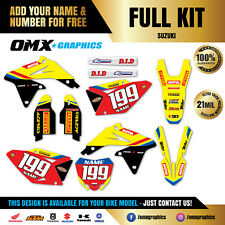 1989 - 2019 Full SUZUKI RM 65 80 85 125 250 MX Graphics Stickers Decals Kit OR