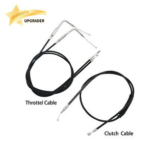 Lengthened Extended Throttle Line Clutch Cable Wire For Harley sportster Dyna