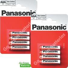8 x Panasonic AAA Zinc Carbon Batteries - LR03, MX2400, MN2400, MICRO