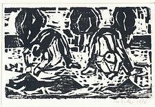 Manfred Zoller: Holzschnitt, 1986, signiert