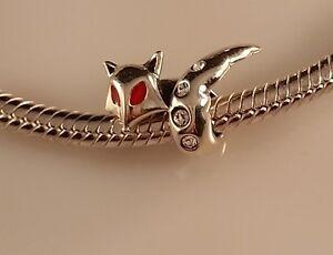 Cheap Lovely Bead 925 Sterling Silver Charm Girl Bracelets European Fox