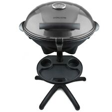 Andrew James Electric Barbeque Grill with Lid | Indoor or Outdoor Use | Grey