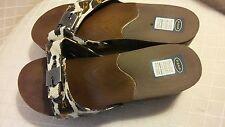 Dr Scholls Orthotic Slide Sandals Womens Animal Print Advanced Comfort Size 9M