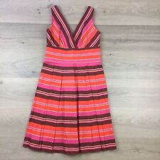 Kay Unger New York Multicoloured Striped Dress Size 8US or 12 (AT14)