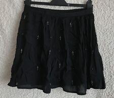 Topshop Cross Bead Goth Embellished Short Skirt Size 10