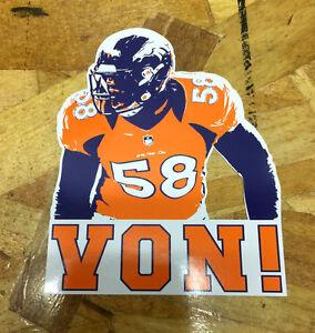 Von Miller Denver Broncos Championship Orange Fan sticker decals