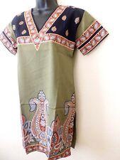 Indian  Crepe Kurta Kurti Designer Women Ethnic Top Tunic Pakistani Small