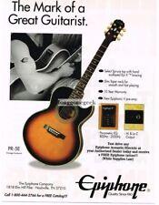 1994 Epiphone PR-5E Sunburst Acoustic Guitar Magazine Ad