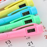 2× Ballpoint Pen Set with Digital Watch Electronic Clock StudentStationery 15cm