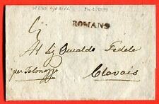 AUSTRIA - ITALY- 1839 cover from ROMANS. VERY RARE CANCELLATION (249913)