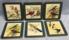 """6~Vintage Large Bird Cork Coaster Set~7""""x7""""free Shipping"""