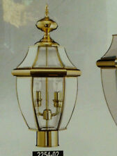 Polished Brass Outdoor Lamppost Head Lamp Post Lighting Street Light Pole Gold