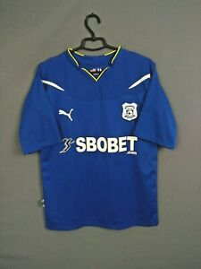 Cardiff City Jersey 2010 2011 Home M Shirt Football Soccer Mens Blue Puma ig93
