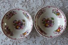 """Mason's Fruit Basket Red Multi 2 (Two) Cereal Bowls 6.25"""" Excellent No chips or"""