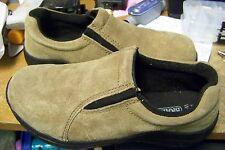 mens womens brahma brown slip on steel toe work shoes 61/2 (w)  5 (m)