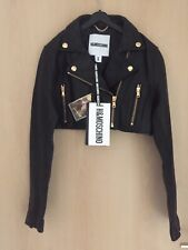 Moschino H&M H&MOSCHINO Jacke Biker Jacket Leder Leather Größe Size S
